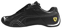 Мужские кроссовки Puma Ferrari Low Black (Пума Феррари) черные