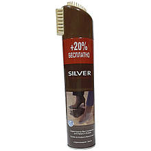 Спрей краска-восстановитель для нубука и замши SILVER коричневый