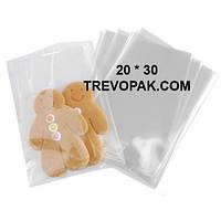 Прозрачные пакеты для упаковки печенья, подарков 20*30 (уп.100шт)