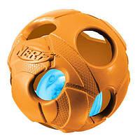 Игрушка Hagen Nerf LED Bash Ball для собак с подсветкой, 8 см, фото 1