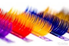 Цветные ресницы на ленте