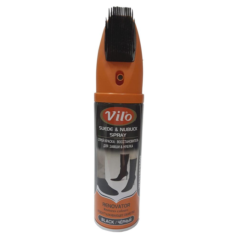 Спрей краска - восстановитель для замши и нубука Vilo черный