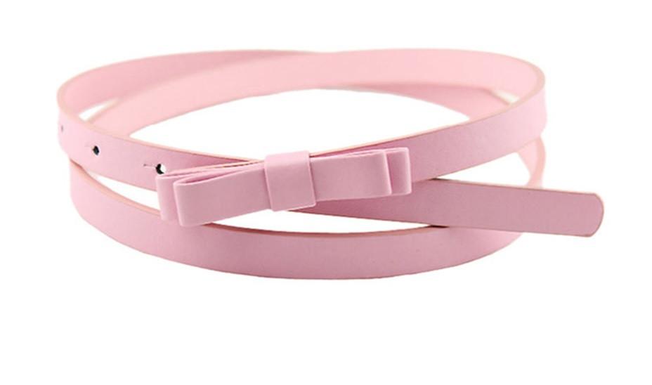 Пояс Бантик розовый/ цвет розовый/ материал PU