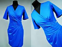 Женское платье Турция серое, синее, оливковое 42 размер норма Синее