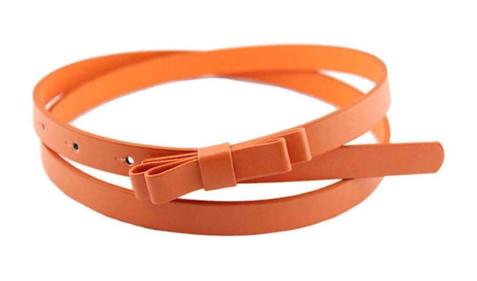 Пояс Бантик оранжевый/ цвет оранжевый/ материал PU