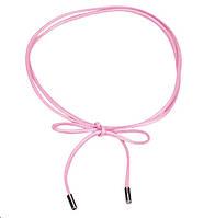 Пояс шнур розовый/ цвет розовый/ материал PU