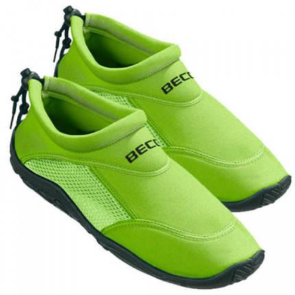 Тапочки для плавания и серфинга BECO зелёный 9217 8, фото 2