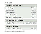 Класичний чавунний радіатор Arroll модель DAISY 780, фото 5