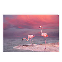 Светящиеся Картины Startonight Розовый Фламинго Птицы Природа Печать на Холсте Декор стен Дизайн Интерьер