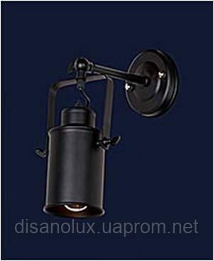 Светильник LOFT  настенный   707W127-1 BK