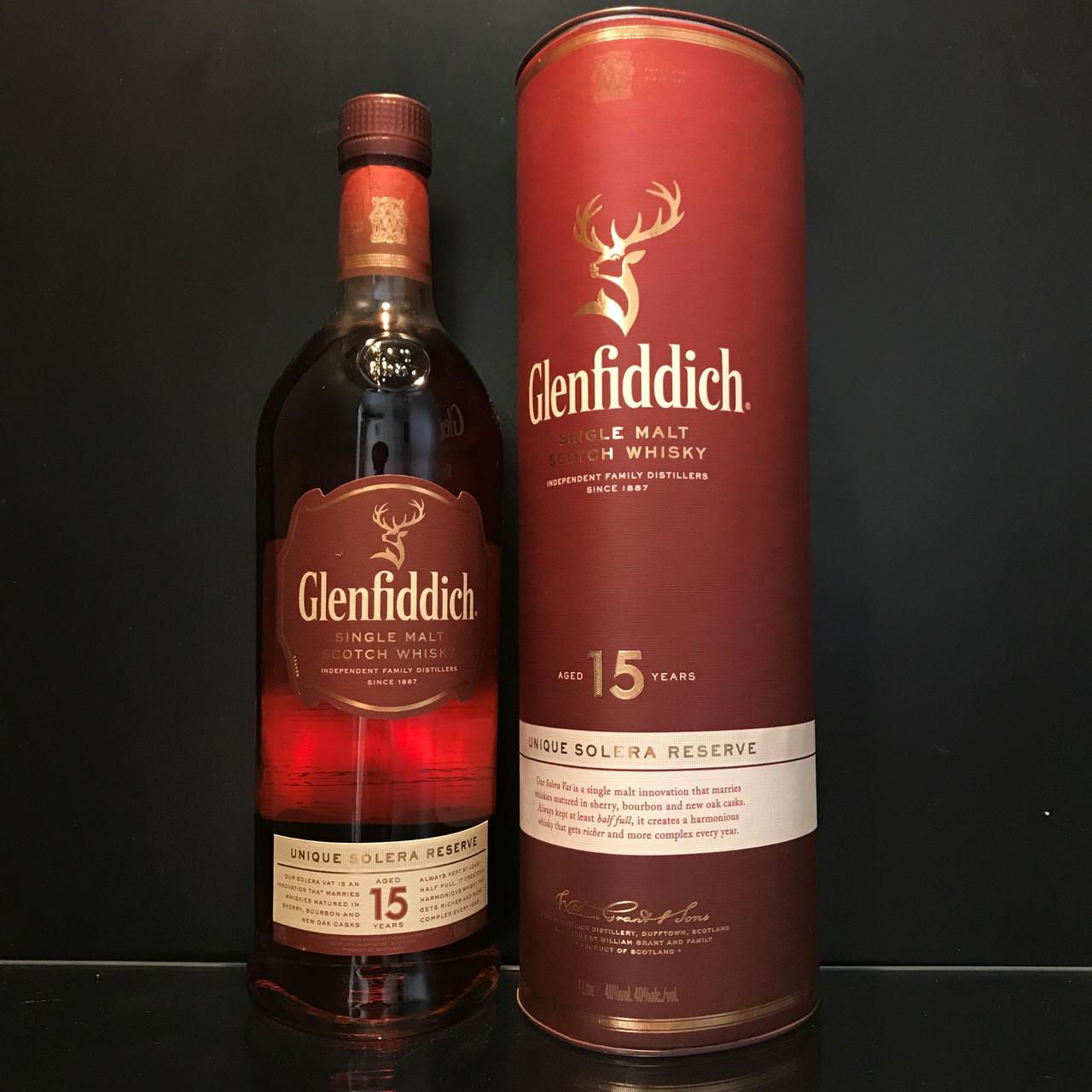 Виски Glenfiddich 15 y.o. Гленфиддик 1л