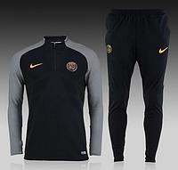 Спортивный костюм Nike, ПСЖ (черный). Футбольный, тренировочный. Сезон 16/17