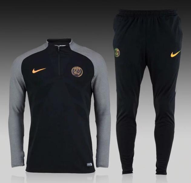 8ae1f0976b1e Спортивный костюм Nike, ПСЖ (черный). Футбольный, тренировочный. Сезон 16