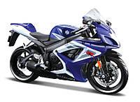 Модель мотоцикла Maisto 1:12 Suzuki GSX-R750 (31101-2 Suzuki GSX-R750 blue/white)