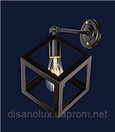Светильник LOFT  настенный  707W136-1 BK