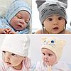 Головные уборы для новорожденных по р. 44