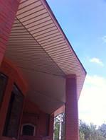 Подшивка кровельного свеса алюминиевым потолком. Цюрупинск