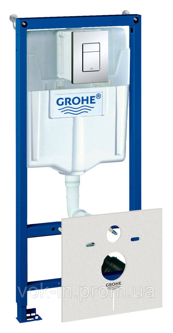 Инсталяция GROHE Rapid SL + квадратная кнопка