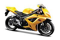 Модель мотоцикла Maisto 1:12 Suzuki GSX-R600 (31101-7 Suzuki GSX-R600 yellow)