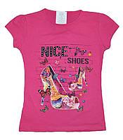 """Футболка подростковая """"Nice shoes"""" для девочек.(трикотаж) размеры 9-13 лет"""