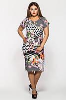 Летнее батальное платье Сакура VLAVI 52-58 размеры
