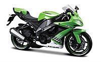 Модель мотоцикла Maisto 1:12 Kavasaki 2010 ZX-10R (31101-8 Kavasaki 2010 ZX-10R green)