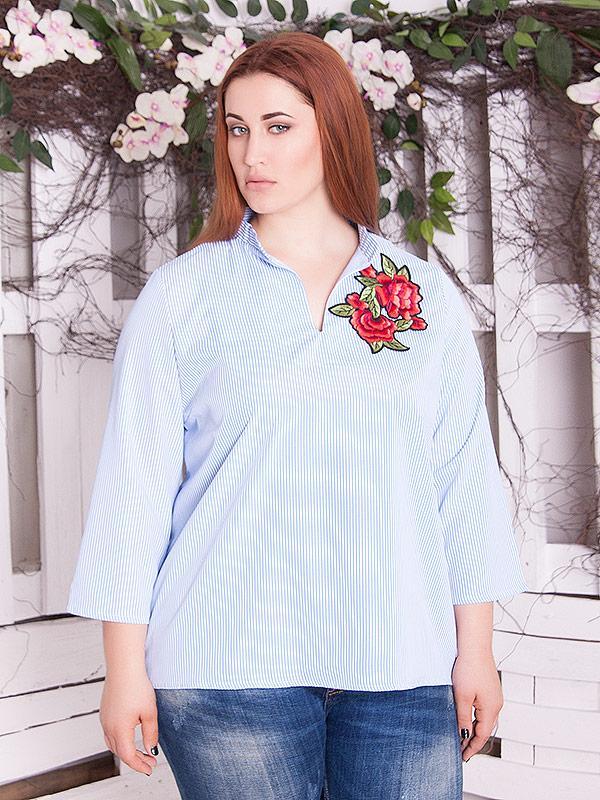 """Женская рубашка большого размера """"Данона"""" до 70 размера"""