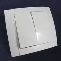 """Выключатель 2-й внутренний """"Аватар"""" белый ST 46-1"""
