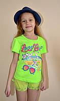 Кислотные футболки для девочек