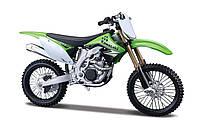 Модель мотоцикла Maisto 1:12 Kawasaki KX 450F Green (31101-16)