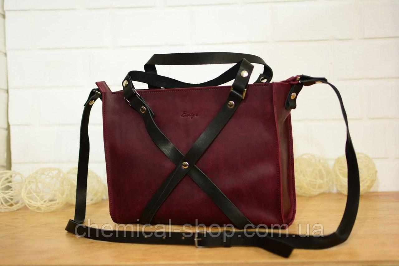 Большая сумка через плечо, натуральная кожа «Бордо» - Интернет-магазин  выгодных цен 8ffb1b09e2c