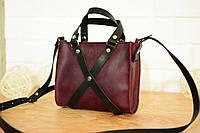 Кожаная женская сумочка «Бордо»