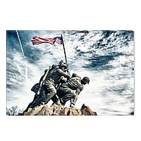 Светящиеся Картины Мемориал Корпуса Морской Пехоты США Печать на Холсте Декор стен Дизайн Интерьер