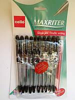 Ручка Maxriter Cello черная + 1 в подарок