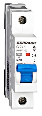 Автоматический выключатель Schrack 6кА 1Р 20А х-ка С