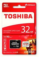 Карта памяти Toshiba microSDXC Class 10 UHS-I 32Gb + SD адаптер