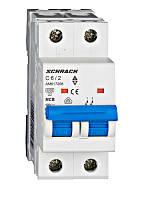 Автоматический выключатель Schrack 6кА 2Р 16А х-ка С