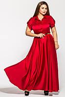 Красивое вечернее платье в пол Алена бордо (48-54)