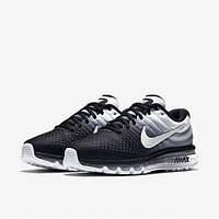 Кроссовки мужские Nike Air Мax 2017 Black/White (найк аир макс) черные