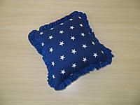 Подушка звезды на синем