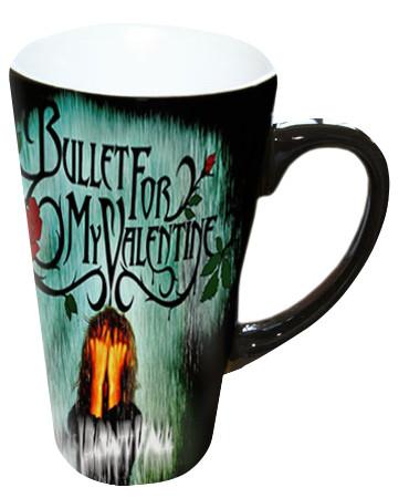 Чашка с Вашим дизайном Latte со сменой цвета (Хамелеон), черная большая