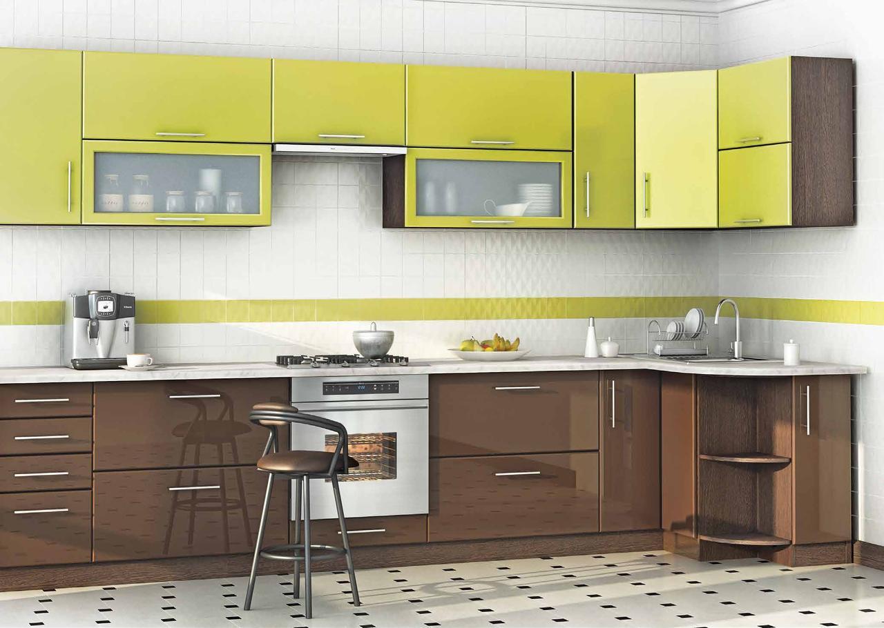 Кухня мокко-лайм, изготовление вариант-025