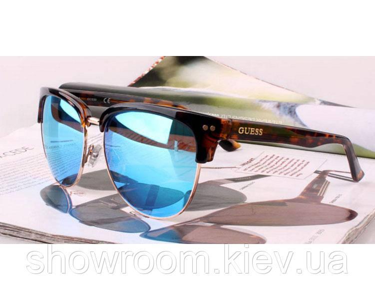 Солнцезащитные очки в стиле Guess (GUF 0283 blue) Lux