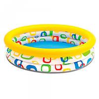 Бассейн детский круглый на 3 кольца 132 л, Интекс
