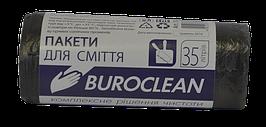 Пакеты для сміття 35л30шт, чорні BuroClean