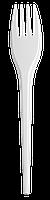 Вилка одноразова, 16 см, біла, 1,5 г, 100штуп