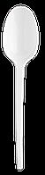 Ложка столова одноразова, біла, 2,55 г, 100штуп