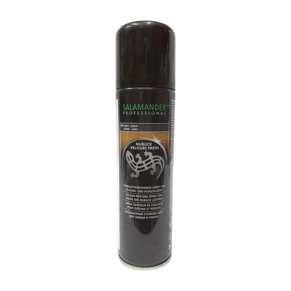 Аэрозоль для замши нубука и велюра Salamander Professional  графит