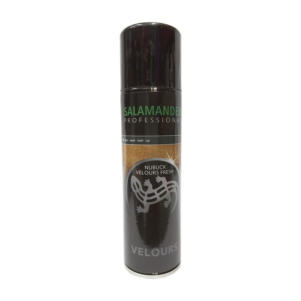 Аэрозоль для замши нубука и велюра Salamander Professional  серый