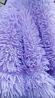 Покрывало плед травка 220х240 Koloco исскуственный мех цветущая сирень